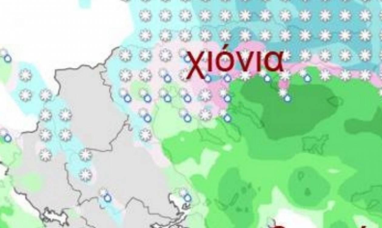 Καιρός: Μετεωρολόγος προειδοποιεί: Ερχονται πυκνά χιόνια και στα πεδινά (Δείτε τους χάρτες)