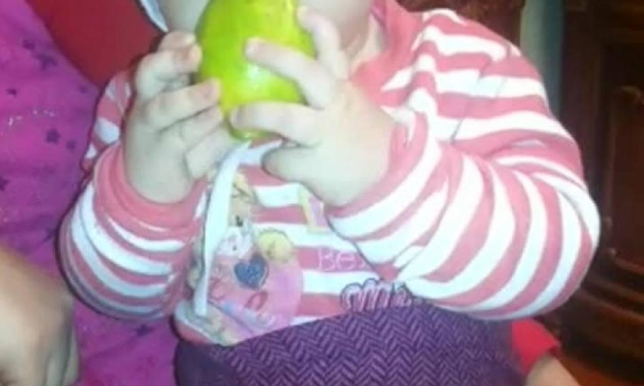 Μόλις δείτε τι τρώει αυτό το μωρό και με τι... άνεση, θα τα χάσετε (video)