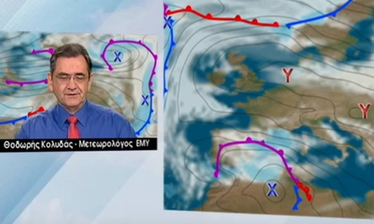 Καιρός: Πρόσκαιρη η βελτίωση, λέει ο Θοδωρής Κολυδάς. Ξανά χιόνια από Δευτέρα (video)