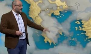 Ερχονται χιόνια Δευτέρα-Τρίτη. Δείτε τις περιοχές στο δελτίο καιρού του Σάκη Αρναούτογλου (video)