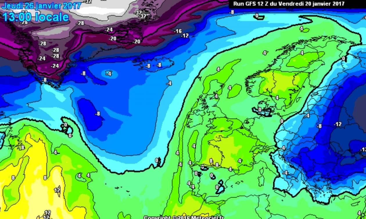 Καιρός: Νέα... Αριάδνη στον ορίζοντα, φέρνει χιόνια σε Θεσσαλονίκη και Αθήνα (Χάρτες)