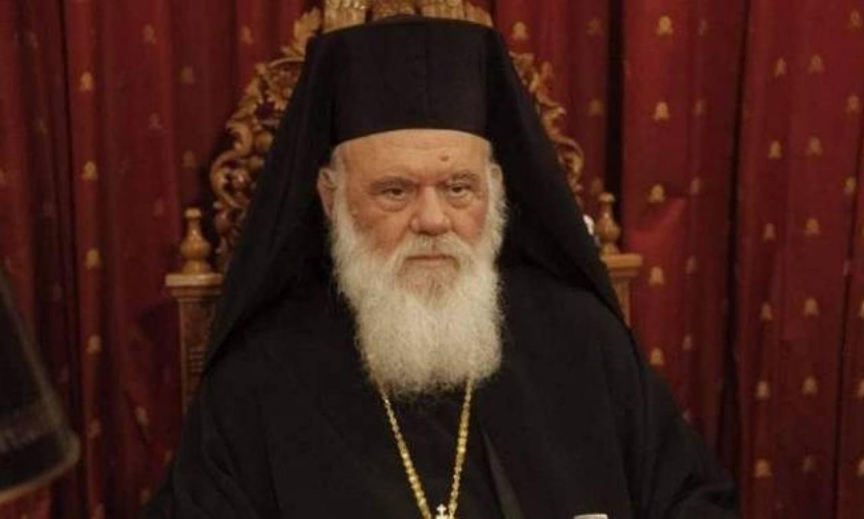 Στη Θεία Λειτουργία του ναού της Αγίας Ειρήνης ο Αρχιεπίσκοπος Ιερώνυμος