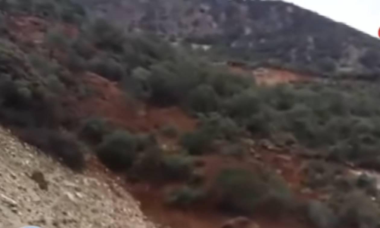 Σοκαριστικό βίντεο με κατολίσθηση στην Αχαΐα: Αποκλείστηκε χωριό