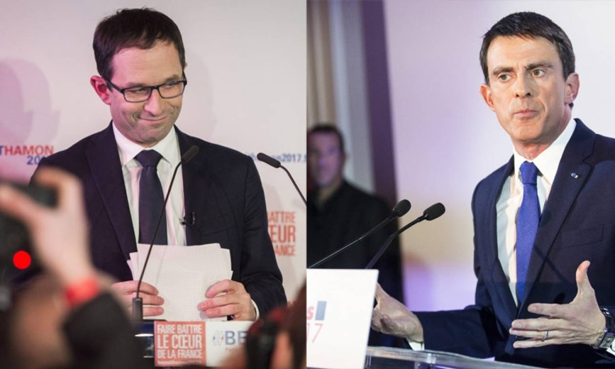 Γαλλία - Εκλογές: Αμόν και Βαλς στο δεύτερο γύρο για το χρίσμα των Γάλλων σοσιαλιστών