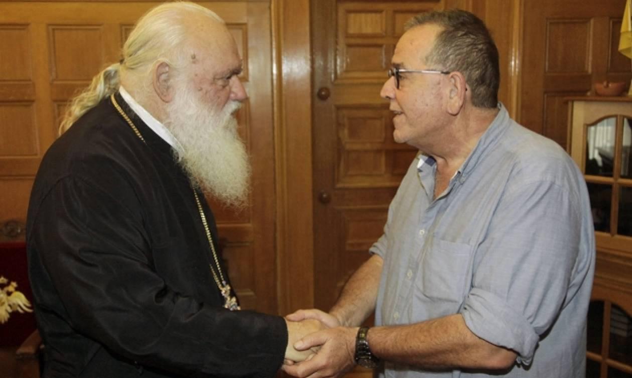 Γεύμα του Αρχιεπισκόπου Ιερώνυμου σε Μουζάλα και Μπαλάφα