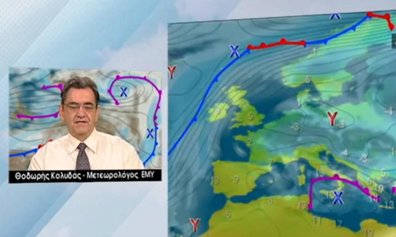 Καιρός: Δεν βλέπει χιόνια στην Αθήνα ο Θοδωρής Κολυδάς (video)
