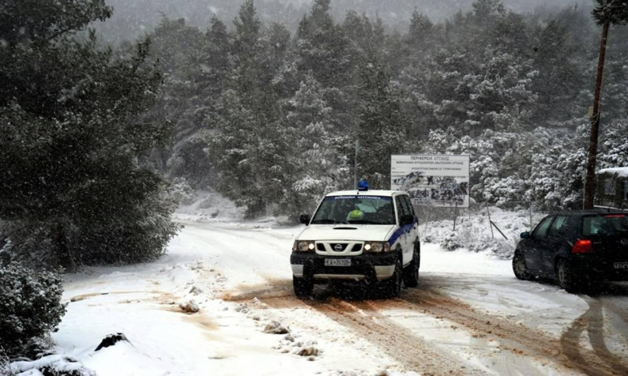 Καιρός - Χιόνια: Σε ποιους δρόμους της Κεντρικής Μακεδονίας χρειάζονται αλυσίδες