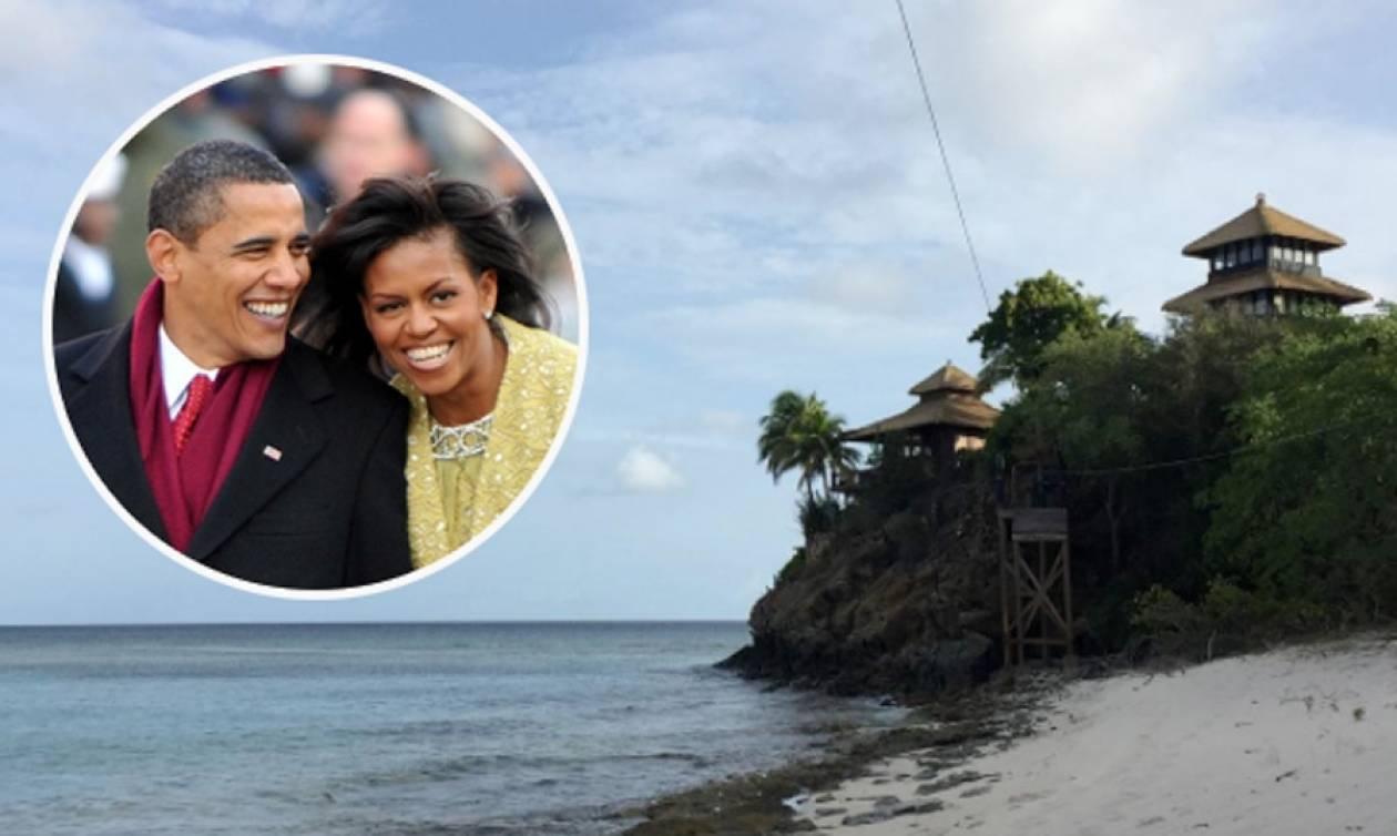 Διακοπές σε εξωτικό παράδεισο για το ζεύγος Ομπάμα! (pics)