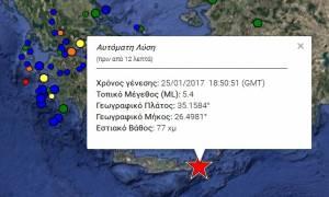 Σεισμός στην Κρήτη: Δείτε τι καταγράφουν LIVE οι σεισμογράφοι