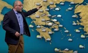 Καιρός: Για ένταση των χιονοπτώσεων το βράδυ της Πέμπτης, μιλά ο Σάκης Αρναούτογλου (video)