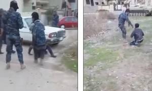Σκληρό βίντεο: Ιρακινοί βασανίζουν και εκτελούν τζιχαντιστές στη μέση του δρόμου
