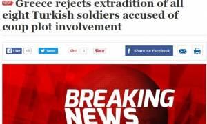 Ελεύθεροι οι 8 Τούρκοι στρατιωτικοί: Με έκτακτα δελτία ειδήσεων μεταδίδουν την είδηση οι Τούρκοι
