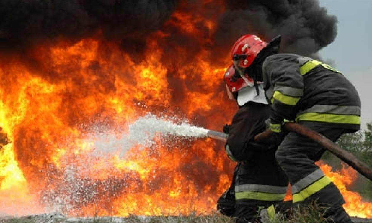 Συναγερμός για φωτιά στη Θεσσαλονίκη – Ένας τραυματίας