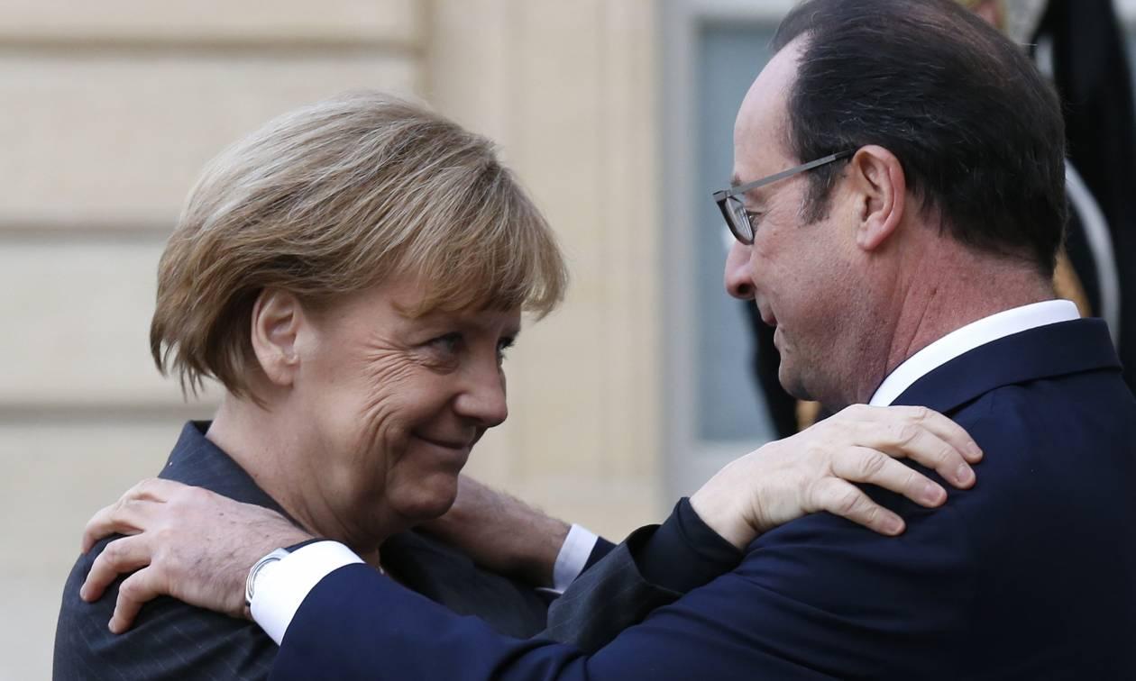 Συνάντηση κορυφής Ολάντ - Μέρκελ: Έκκληση για ευρωπαϊκή ενότητα