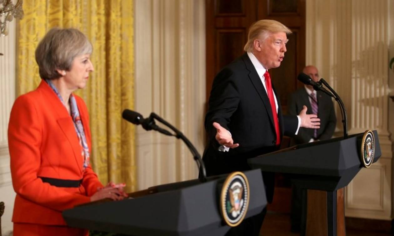 Συνάντηση Τραμπ-Μέι: Το Brexit θα είναι μια «υπέροχη» εξέλιξη για τη Βρετανία (vid)