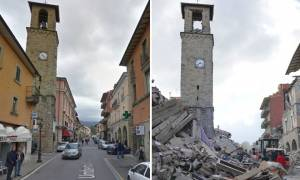 Νέος σεισμός στην Ιταλία «αποτελείωσε» την εμβληματική εκκλησία στο Αματρίτσε