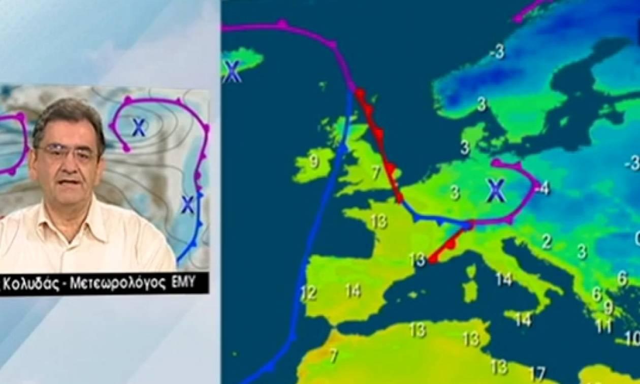 Καιρός: Πού θα χιονίσει την Τρίτη; Η πρόγνωση του Θοδωρή Κολυδά (video)