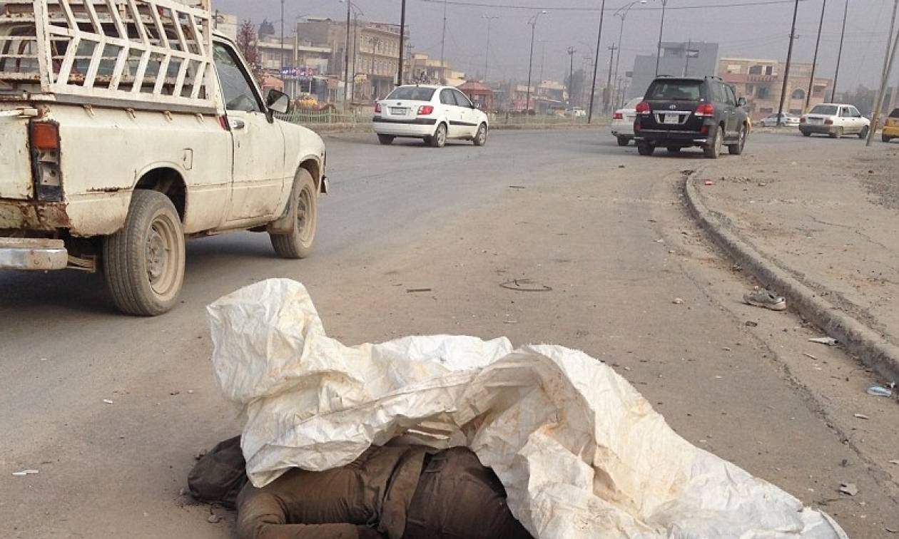 Σκληρές εικόνες: Τα πτώματα των τζιχαντιστών γίνονται τροφή για σκύλους στη Μοσούλη