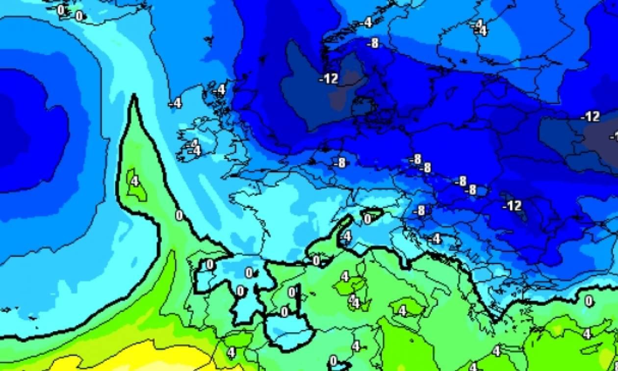 Ψήνεται... ψυχρή εισβολή από τις 9 Φλεβάρη, επιστρέφουν τα χιόνια; (Χάρτες)
