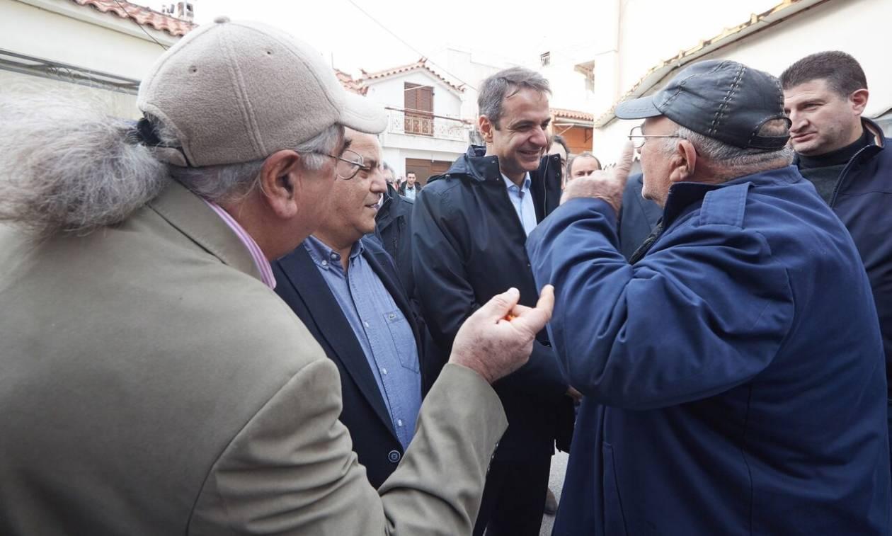 Στη Μυτιλήνη ο Μητσοτάκης: Αποκαρδιωτική η εικόνα στη Μόρια με ευθύνη της κυβέρνησης (pics)