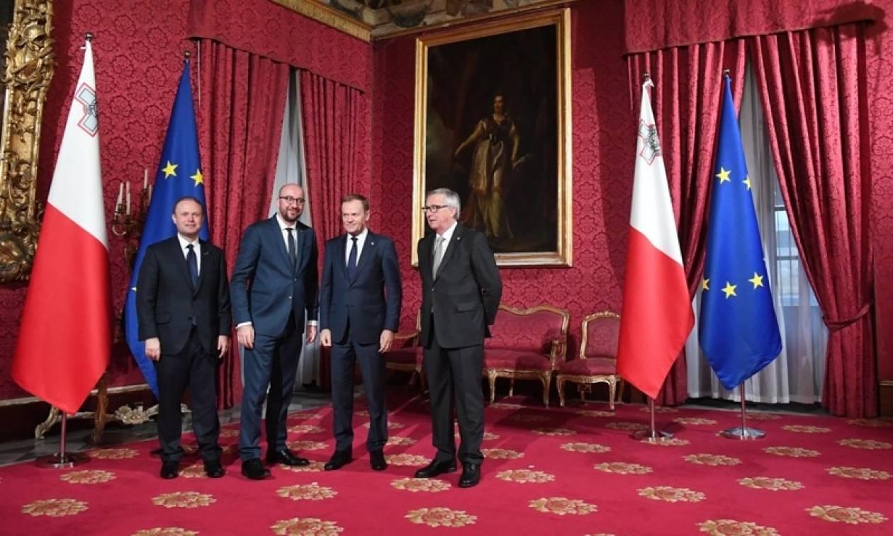 Σύνοδος Κορυφής Μάλτα: Συνεργασία για τον έλεγχο των μεταναστευτικών ροών