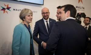 Τετ α τετ Τσίπρα - Μέι στη Συνόδο της Μάλτας - Τι συζήτησαν