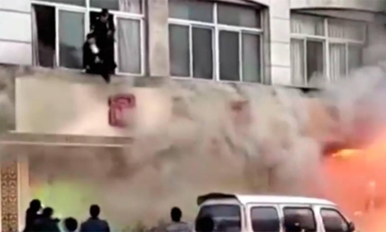 Κίνα: Κόλαση φωτιάς σε κέντρο μασάζ με 18 νεκρούς (vid)
