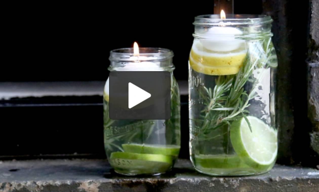 Φτιάξτε το δικό σας (μη τοξικό) απωθητικό καντηλάκι για τα κουνούπια (Video)