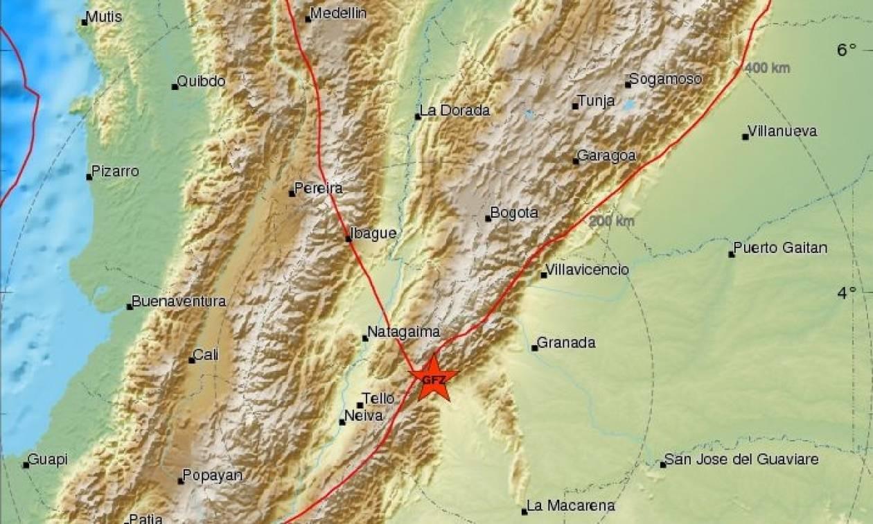 Ισχυρός σεισμός 5,7 Ρίχτερ στην Κολομβία