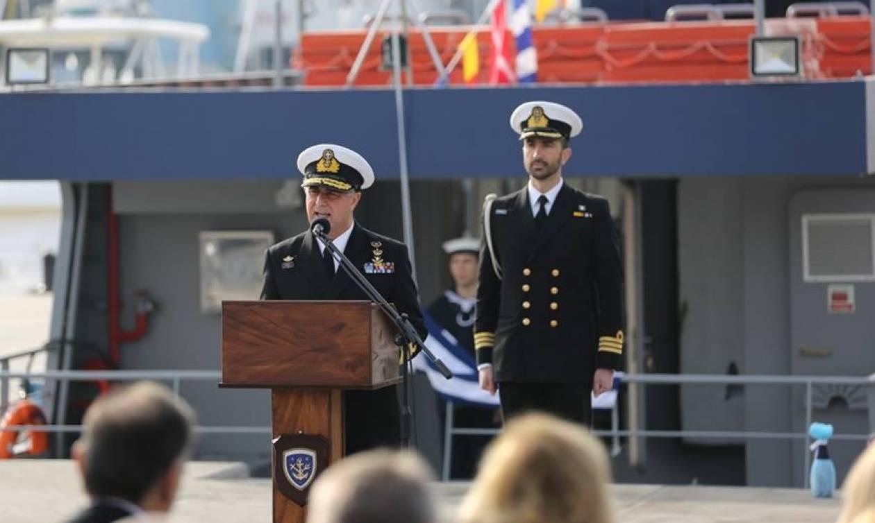Πολεμικό Ναυτικό: Τελετή ονοματοδοσίας και ένταξης νέου Βοηθητικού Πλοίου Βάσεως (pics)
