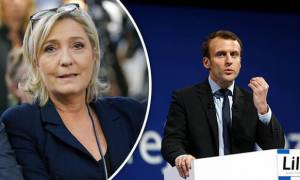Le Pen (left) & Macron (right) move to second electoral round in France