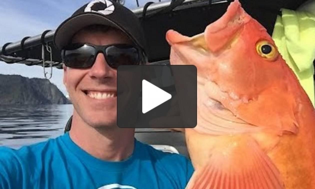 Πήγαν για ψάρεμα στην Αλάσκα: Θα τα χάσετε με τις ψαρούκλες που έπιασαν (video)