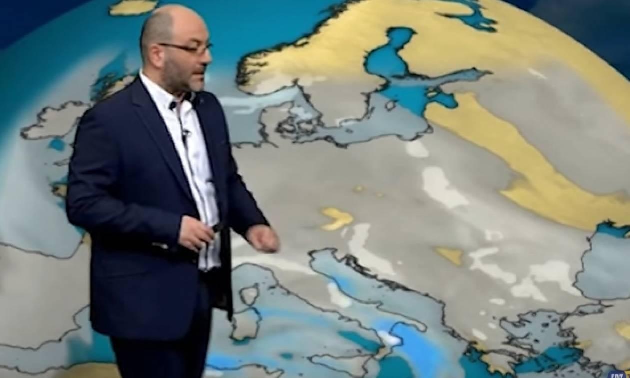 Τι «βλέπει» ο Σάκης Αρναούτογλου για την ψυχρή εισβολή; Πού θα χιονίσει; (video)