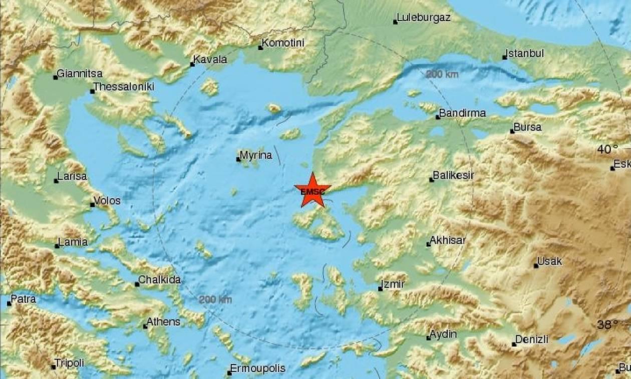 Ισχυρός σεισμός κοντά στη Μυτιλήνη