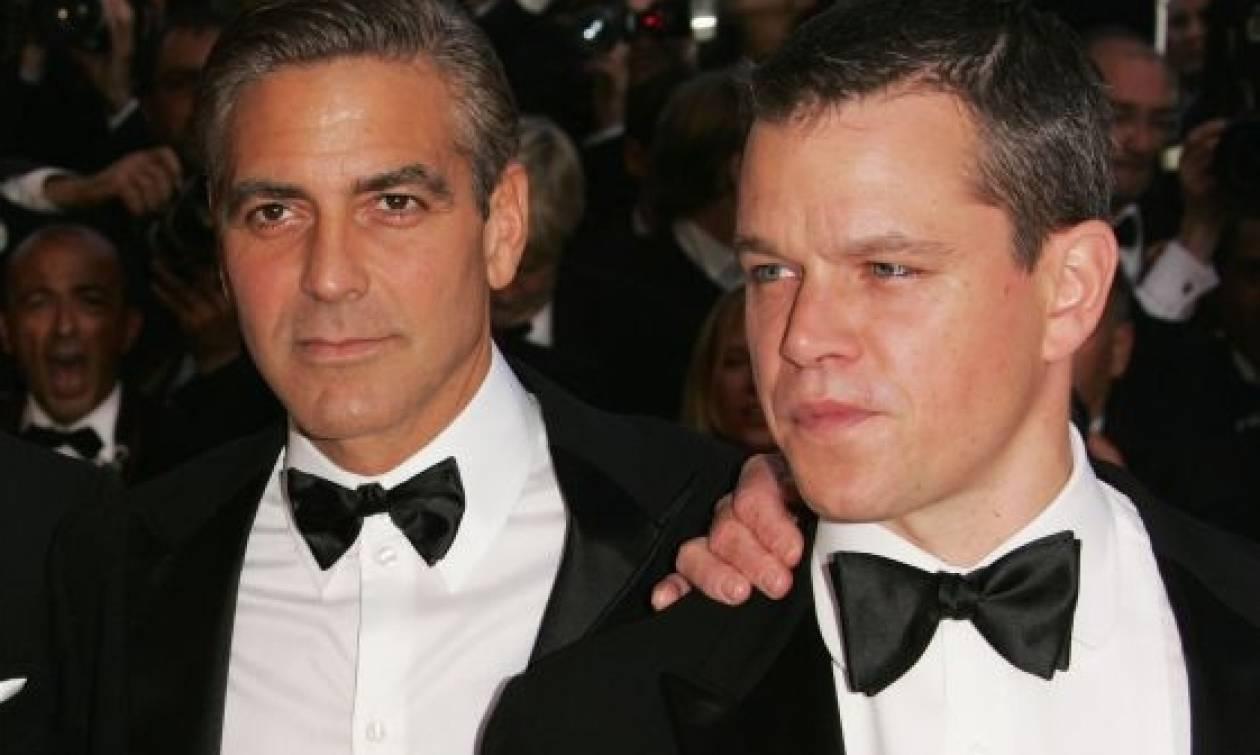 O Clooney επιβεβαίωσε την εγκυμοσύνη της Amal στον Matt Damon! Τι του είπε και φώναξε «Είσαι τρελός»