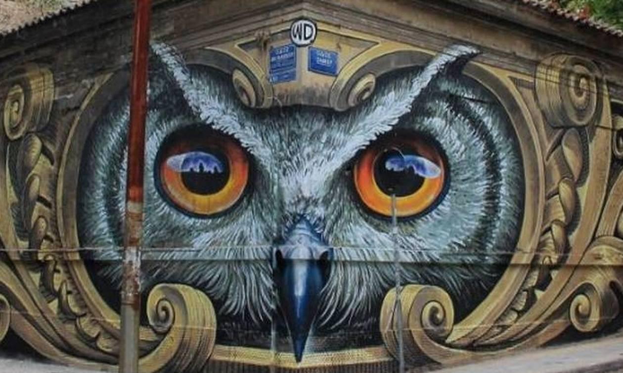 Βανδαλίσαν την κουκουβάγια, το ομορφότερο γκράφιτι της Αθήνας