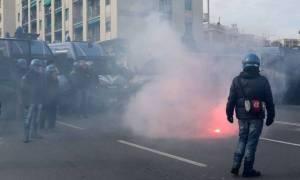 Ιταλία: Βίαιες συγκρούσεις μεταξύ διαδηλωτών και αστυνομίας (pics)