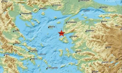 Σεισμός 4 Ρίχτερ κοντά στη Μυτιλήνη