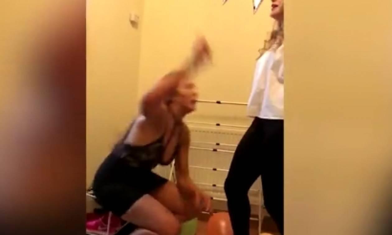 Ο σέξι χορός τής βγήκε ξινός. Δείτε πού έκατσε χωρίς να το ξέρει... (Video)