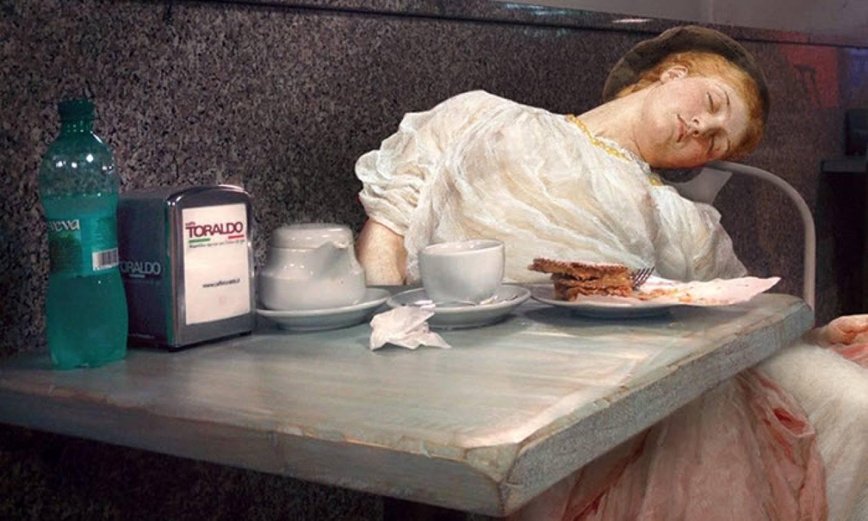 Κατέβηκαν από πίνακες... και κόβουν βόλτα στη Νάπολη! (pics)