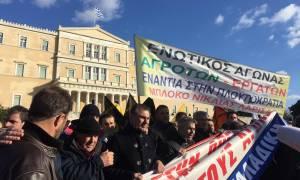 Παναγροτικό συλλαλητήριο στο κέντρο της Αθήνας (pics&vids)