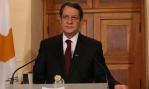 Αναστασιάδης: O T/κ ηγέτης να εγκαταλείψει τις αιτιάσεις και να προσέλθει για συνέχιση του διαλόγου