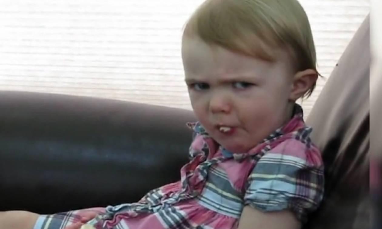 Απίθανες... αγριεμένες γκριμάτσες μωρών ρίχνουν το διαδίκτυο (video)