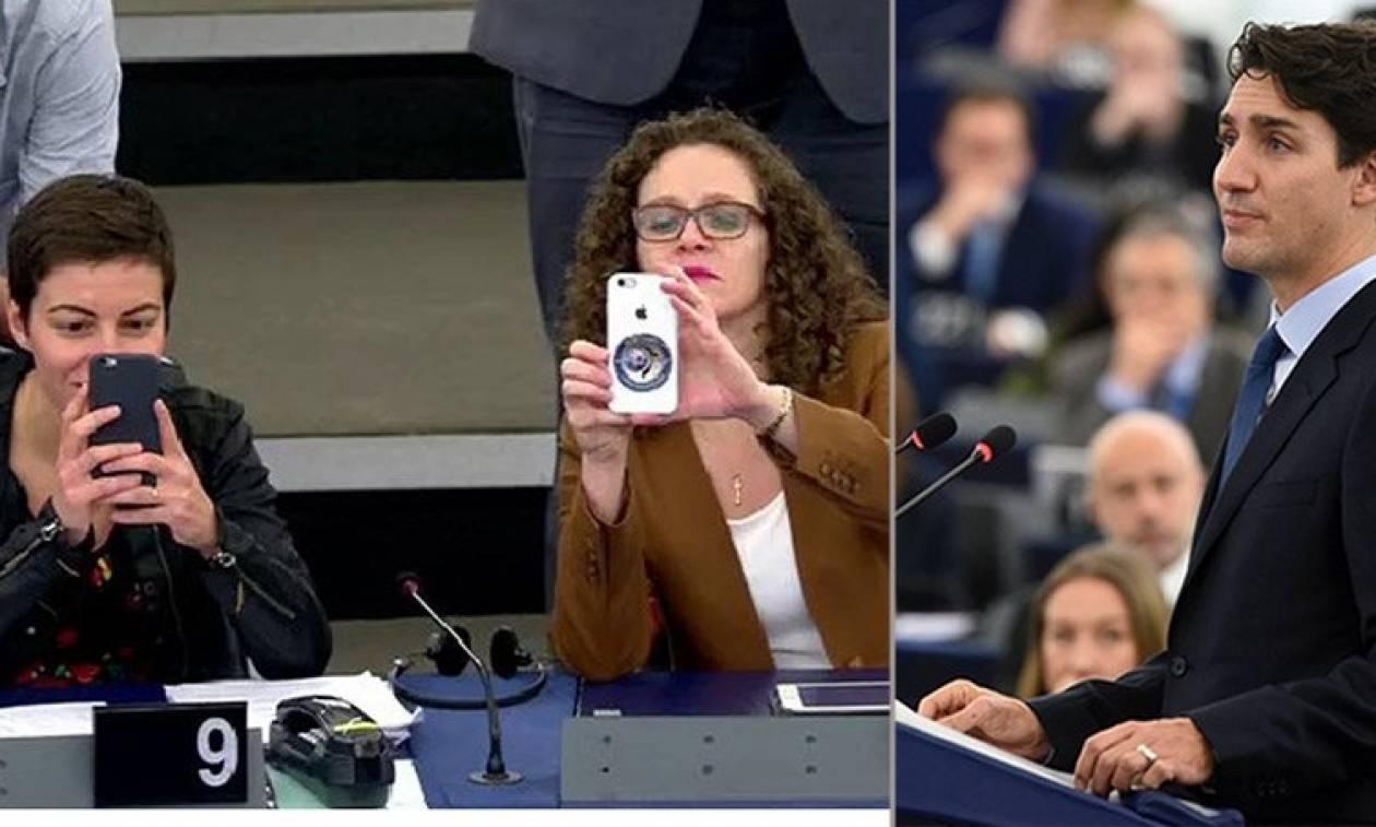 Ο Τριντό γοήτευσε και το Ευρωπαϊκό Κοινοβούλιο (video)