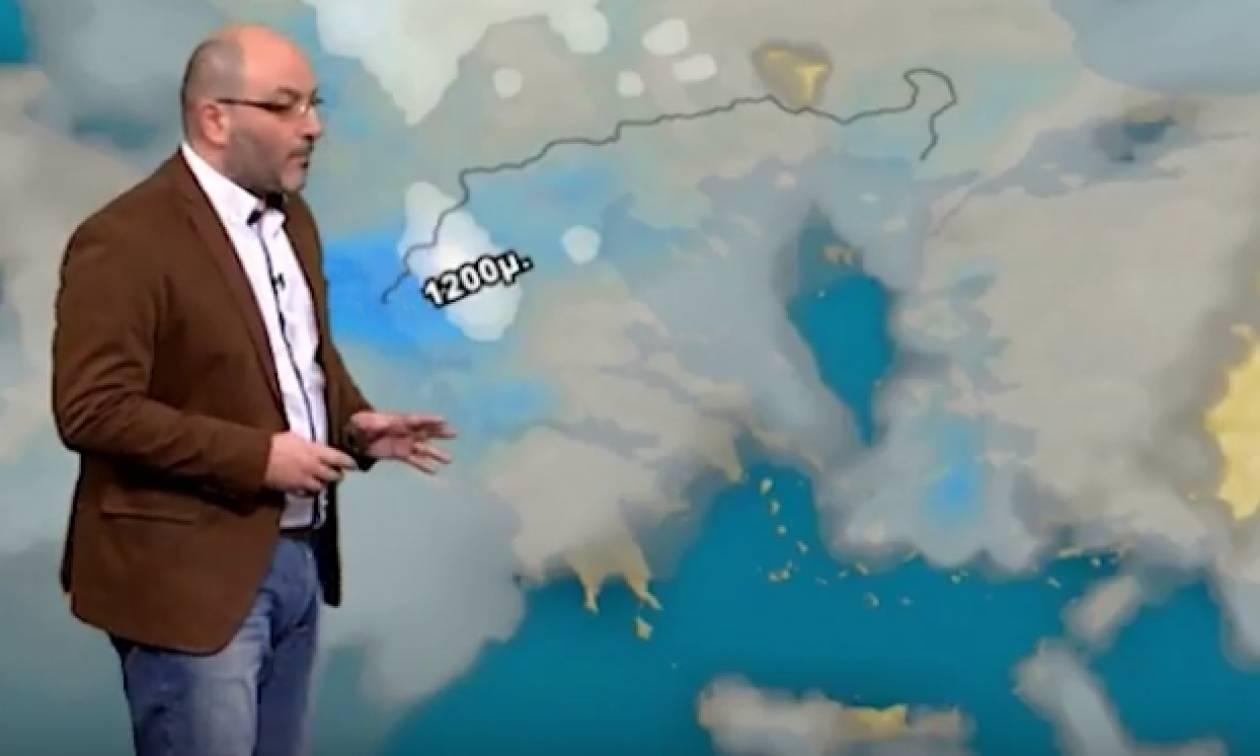 Καιρός: Πού θα χιονίσει την Κυριακή και τη Δευτέρα; Τι είπε ο Σάκης Αρναούτογλου (video)