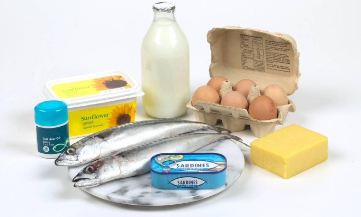 Βάλτε τη βιταμίνη D στη διατροφή σας, σώζει ζωές!