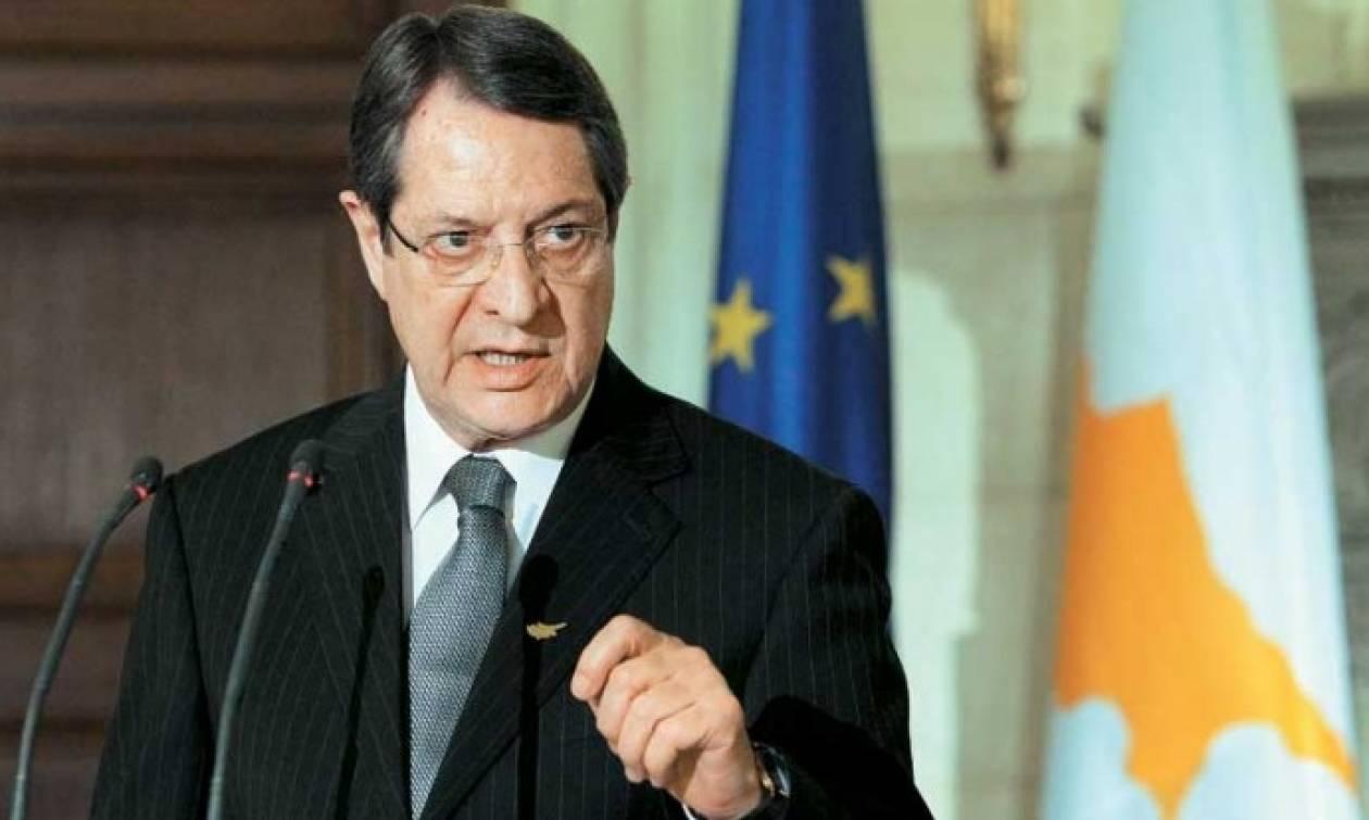 Κυπριακό- Αναστασιάδης: Επαναλαμβάνει την αποφασιστικότητά του να συνεχίσει τον εν εξελίξει διάλογο