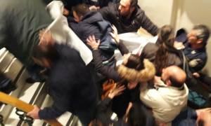 Επεισοδιακή ομιλία του Πετρόπουλου στο Ηράκλειο: Έκαναν ντου στο Επιμελητήριο και του τα «έψαλαν»