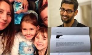 Το απίθανο γράμμα μιας 7χρονης στη Google και η απάντηση του CEO!