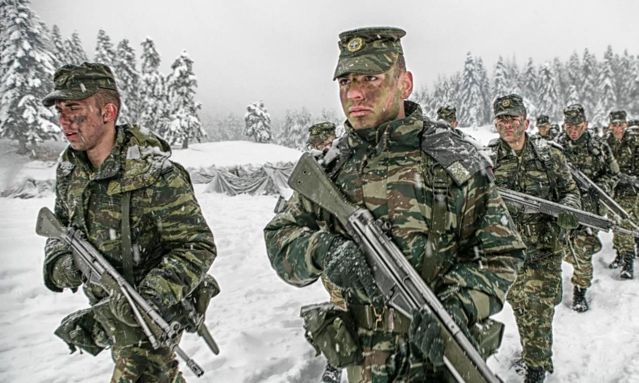 Στρατός Ξηράς: Εκπαίδευση νέων υπαξιωματικών στο χιονισμένο Περτούλι (pics)